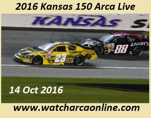 2016 Kansas 150 Arca Live