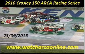 Watch Crosley 150 ARCA Racing Series Online